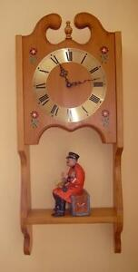 Very Attractive & Functional Hand Crafted Solid Pine Wall Clock