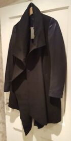All Saints Brand New Hyde Monument Coat in Black Size 8