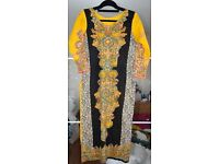 Yellow and Black Pakistani Suit