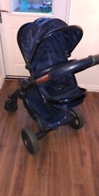 I candy pushchair and carrycot, midnight blue (limited addition)
