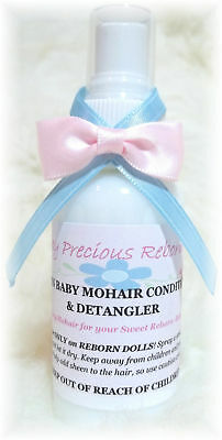 Reborn Mohair Conditioner & Detangler - Baby Powder TDF, Makes doll hair soft