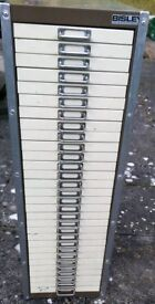 Bisley 30 Drawer Storage /Filing Unit
