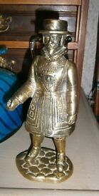 old brass beefeater ornament