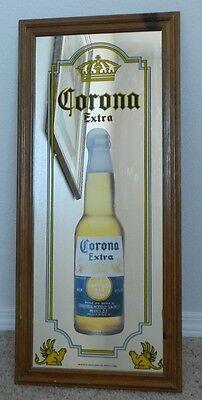 "Corona Extra  mirror sign 10.5"" X 27.5"" wood frame"