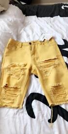Boohoo ripped summer shorts