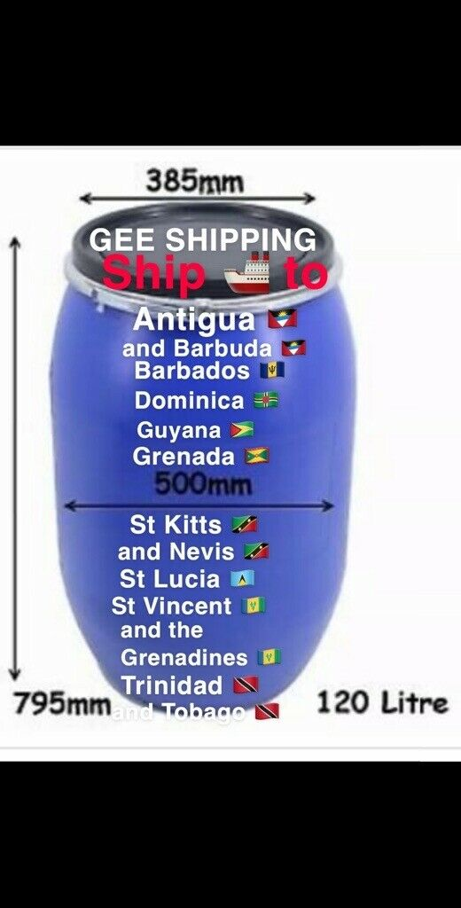 cheap Jamaica,shipping to the caribbean, Barbados  Barrels