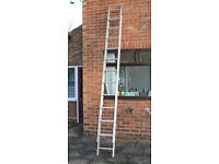 DOUBLE ALUMINIUM EXTENSION LADDERS, 3.36M PER SECTION, CLIMA 2 TIER LADDER