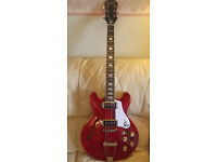 2016 EPIPHONE CASINO COUPE CHERRY GLOSS WITH NICKLE HARDWARE INCLUDES NEW TWEED HARD CASE