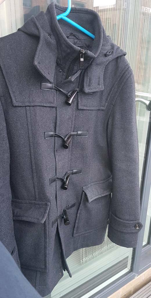 (Medium) Zara Mens grey duffle coat