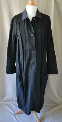 Acne Studios Black Linen Blend Coat Joyce Li Long Sleeve Sz 34 Small