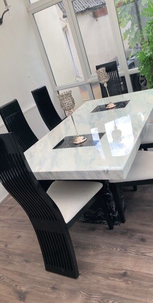 the best attitude cce25 910fe DFS marble dining table&chairs | in Bradford, West Yorkshire | Gumtree