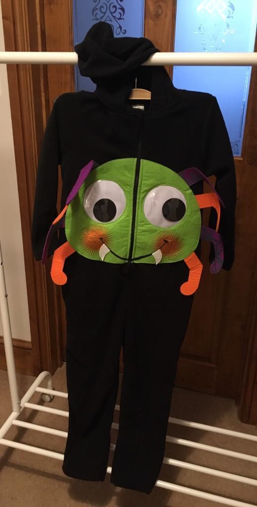 Halloween spider onesie/costume. Age 7-8 years
