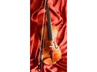 Modern student violin and bow 3/4 size.