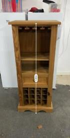 Wooden wine and glass rack