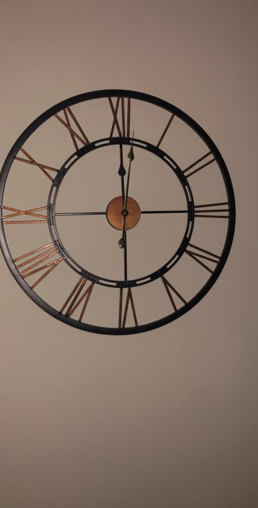Large Black And Bronze Wall Clock In Bridgend Gumtree