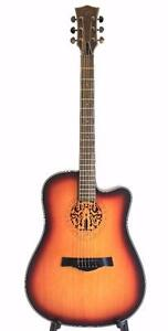 Spanish Look Acoustic Guitar Unique style looks nice 41 inch iMG849 iMusicGuitar