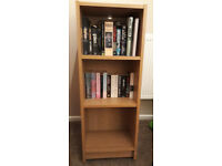 Oak-effect bookcase