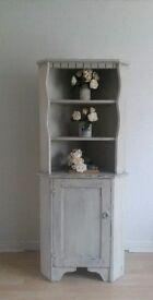 Hand Painted Corner Cabinet