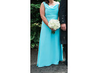 Bridesmaid Dress - Blue Chiffon Size 14