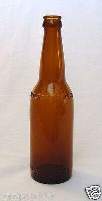 GEORGE GUNTHER JR MFG CO BEER BOTTLE BROWN GLASS EMBOSSED EMPTY VINTAGE ORIGINAL