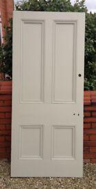 reclaimed Victorian / Edwardian door 83 x 37 approx