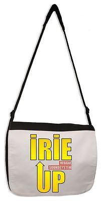 IRIE UP REGGAE SOUND SYSTEM MESSENGER BAG - Jamaican Reggae Rasta Rastafarian