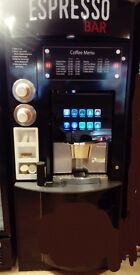 Commercial Coffee machine self service tower and large fridge for lease