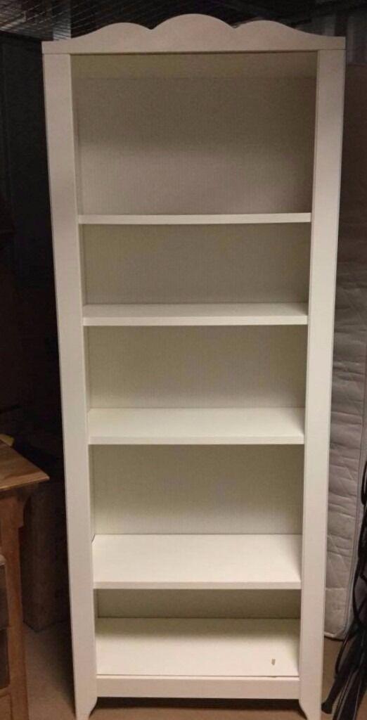Pretty White Ikea Vintage Style Melamine Shelves