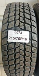 PNEUS HIVER USAGÉS / USED WINTER TIRES 215/70R16 21570R16 NEXEN WINGUARD (2 DE DISPONIBLES)