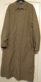 Vintage St Michael Marks and Spencer M&S Taupe Green/Brown Long Coat Jacket Size Chest 38-40, Medium