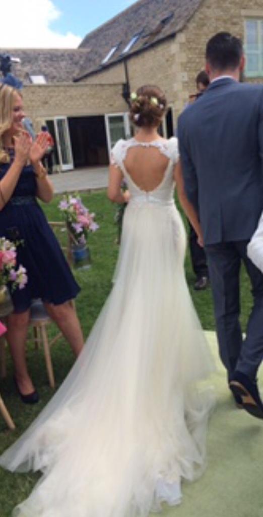 Tulle & Lace Wedding Dress - Annasul Y \'Grace\' dress - size 6 ...