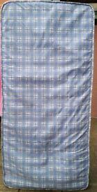 single mattress, 90cm x 190cm. 15cm thick. In clean condition.
