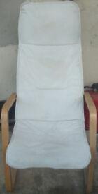 White Fabric Chair