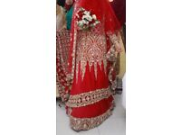 Asian maroon wedding dress