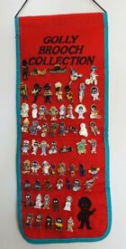 Sixty Golly Brooches on a Presentation Scroll for sale