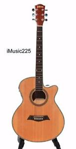 Free Delivery Acoustic Electric Guitar for beginners Natural 40 inch iMusic225