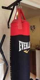 Everlast punchbag and bracket