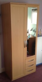 Wardrobe 2 doors with mirror