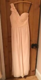 Blush nude bridesmaid dress size 14
