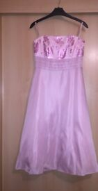 Next Occasion Collection Size 10 Pink Bridesmaids Dress