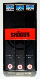 JAMES CLAVELL'S SHOGUN - ORIGINAL FULL LENGTH VERSION ON 3 VHS BOXED