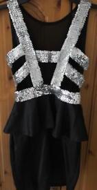 Black Sequin Dress Size M