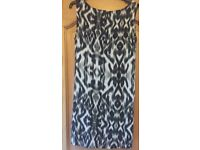 F&F Black & Grey Size 12 Dress - Excellent Condition
