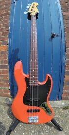 Fender FSR Japanese Classic '60s Jazz Bass in Fiesta Red - With Upgrades