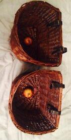 2 wicker bike baskets both must go ! Notting Hill