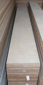 50 Pieces of NEW 12mm B/BB Grade Birch Plywood 8ft x 9.75in (2440mm x 248mm)
