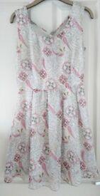 UK size 10 Pink Paisley Pattern Dress