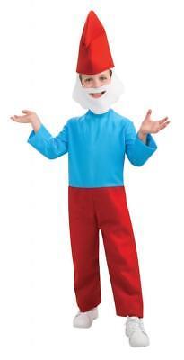 Jungen Kind die Schlümpfe Papa Schlumpf Kostüm - Papa Schlumpf Kostüm Kind