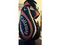 Callaway trolley golf bag includes Storm Master rain cover