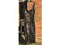 Black all-over sequin dress